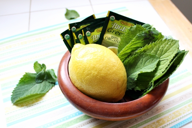 Peppermint Tea with lemon and honey will naturally help soothe your sore throat and clear an excess of music. Decrease the lemon if your throat feels dry.