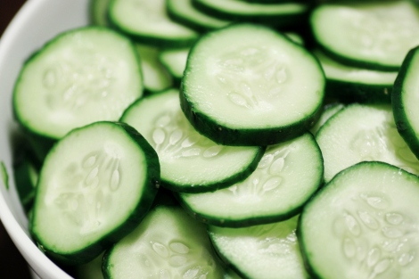 Add slices of cucumber to your water to create a healthy, delicious detox drink.